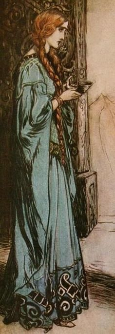 Isolde and the potion.Frm bd: Ode to the Redhead