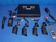 Swann SWDVR-82550H 8 Channel DVR Digital Video Recorder 4 SWPRO-530CAM Cameras  #Swann