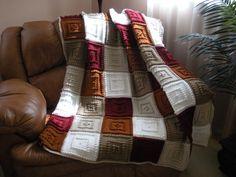Padrão sonolento por manta de crochê