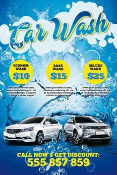 car wash flyer template Car Wash FREE Poster Template - Best of Flyers Free Psd Flyer Templates, Business Plan Template Free, Event Flyer Templates, Poster Templates, Car Wash Posters, Car Wash Business, Car Wash Services, Car Detailing, Logos
