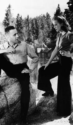 Ida Lupino & Humphrey Bogart in Raoul Walsh's High Sierra (1941)