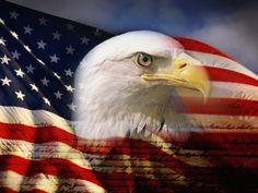 Bald Eagle Head and American Flag Photographic Print by Joseph Sohm at Art.com