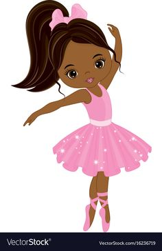 Cute little african american ballerina Royalty Free Vector Beautiful Black Girl, Black Girl Art, Black Women Art, Art Girl, Ballerina Silhouette, Ballerina Dancing, Little Ballerina, Ballerina Cartoon, Black Art Pictures