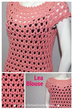 Free Crochet Pattern: Lea Blouse , a crochet blouse pattern that has photo tutorial in each step to guide you in your crochet journey.