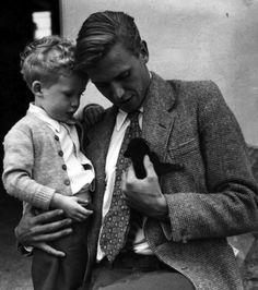 sir david attenborough + kitten + boy