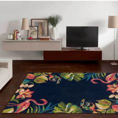 Anthracite Multi Rug by Theko Living Spaces, Floral Design, Kids Rugs, Rug Features, Dark, Home Decor, Beautiful, Products, Homemade Home Decor