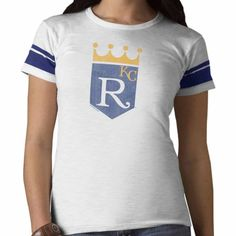 Kansas City Royals 47 Brand Women White Wash Game Time Scrum T-Shirt