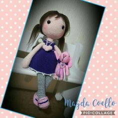 My beautiful doll  (Luisa Contreras pattern) and bunny (russian pattern)