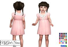 NY Girl Sims: Collar and Bow Dress • Sims 4 Downloads