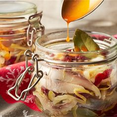 Seafood Salad, Fish And Seafood, Polish Recipes, Preserves, Food And Drink, Yummy Food, Homemade, Canning, Vegetables