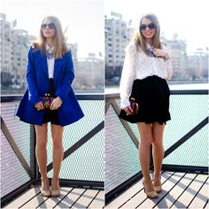 Lefties Coat, Lefties Skirt, New Yorker Shirt, Zara Sandals