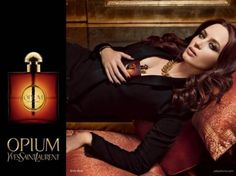 Yves Saint Laurent Opium Perfume - The Perfume Girl. Fragrances and colognes from fashion houses and perfume designers. Scent resources, perfume database, and campaign ad photos. Parfum Chanel, Emily Blunt, Jennifer Aniston Perfume, Quebec, Parfum Yves Saint Laurent, Celebrity Perfume, Perfume Reviews, Hair Loss, Short Hair