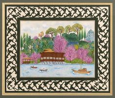 İstanbul Boğazı - Kātı' minyatür - Emel Nurhan Ogan Islamic Art, Paper Cutting, Istanbul, Miniatures, Wall Decor, Frame, Artist, Projects, Handmade