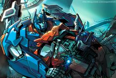 Ultra Magnus and Optimus Prime -Transformers Prime