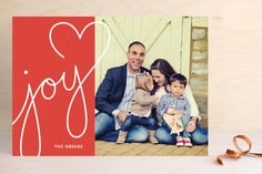 Lettered With Love Holiday Photo Cards by Kim Dietrich Elam at minted.com