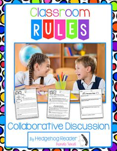FREEBIE Back to School Classroom Rules collaborative discussion activity