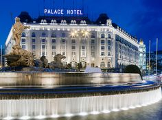 Westin Palace Madrid at sunset - ASPEN CREEK TRAVEL - karen@aspencreektravel.com