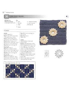 ru / Фото - 75 Floral Blocks to Crochet - nezabud-ka Crochet Squares, Crochet Granny, Crochet Motif, Crochet Stitches, Crochet Patterns, Crochet Tutorials, Granny Squares, Crochet Ideas, Image Sharing Sites