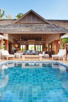 Located on Madam Zabre Beach, Dibwa Retreats have private wooden decks and infinity pools. Desroches Island Seychelles (Seychelles) - Jetsetter