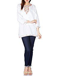New ShalinIndia Embroidered Kurti Tunic - Authentic Indian Kurtis - Kurti Tops for Women - Size M online. Find the perfect Beyove Tops-Tees from top store. Sku XGVX87933GIBG18949