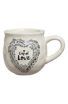 Natural Life 'Happy Mug - Cup of Love' Ceramic Mug