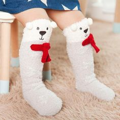 ec7684d2b Baby and Toddler Coral Fleece High Knee Socks 1-3 years.