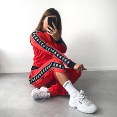 kapa track suit available in black /white and red at only was Sporty Outfits, Trendy Outfits, Summer Outfits, Cute Outfits, Legging Jeans, Fila Outfit, Latest Fashion For Women, Womens Fashion, Vetement Fashion