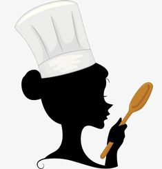 A woman chef with a spoon in her hand, Cook, Go To The Kitchen, Cartoon PNG Image Baking Logo Design, Cake Logo Design, Food Logo Design, Logo Food, Bakery Logo, Logo Restaurant, Logo Chef, Chef Pictures, Cartoon Chef