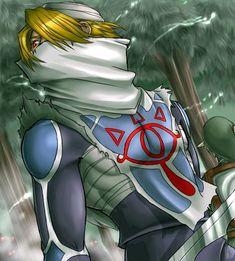 Sheik (Princess Zelda's alter ego) and adult Link - The Legend of Zelda: Ocarina of Time