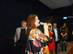 La cantante de Islandia Hera Björk en el Eurovision live in Stgo 2014, desde el auditorio del IIC. #ESCSTGO2014