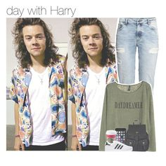 """""""day with Harry"""" by jaianealine ❤ liked on Polyvore featuring mode, H&M et Accessorize"""