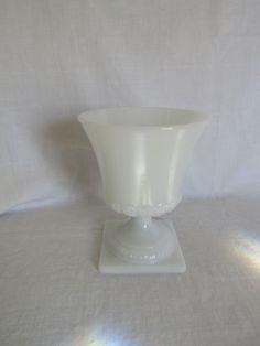 Brody Glass White Vase Marked Vintage by rarefinds4u on Etsy