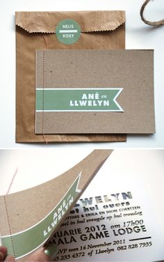 Ane & Llwelyn...fave invitation of 2011! - Blog - Seven Swans Wedding Stationery