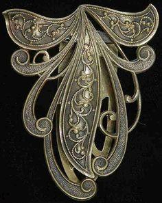 Vintage 1930'S 40'S Joseff OF Hollywood Signed ART Nouveau Dress Clip OR Brooch | eBay