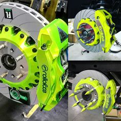 Green line Brakes: Rims For Cars, Rims And Tires, Vw Motorsport, Lexus Suv, Vw Rat Rod, Carros Bmw, Car Mods, Tuner Cars, Diy Car
