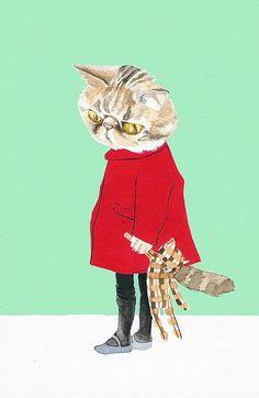 """⇢   http://booooooom.com/2009/06/02/melinda-josie-illustrations/ ⇢  """"FigNewton""""    ⇢  MelindaJosie"""