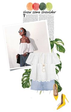 """""""show some shoulder"""" by fernweeh ❤ liked on Polyvore featuring GRLFRND, Madewell, Kate Spade and Jezzelle"""