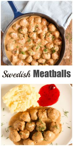 These Swedish Meatballs are sure to please even the most difficult kids. They go very well with mashed potatoes to soak all that delicious sauce.