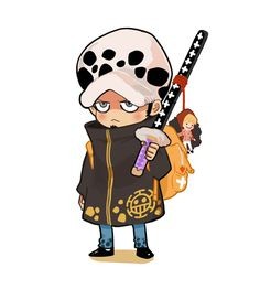 Chibi Trafalgar D. Water Law with Donquixote Rocinante, (Corazon), (Corasan, Cora-san) chain One piece Mais Sanji One Piece, Anime One Piece, One Piece Fanart, Anime Chibi, Anime Manga, The Pirates, Anime Stickers, Chibi Characters, Trafalgar Law
