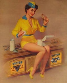 Bill Medcalf: his two idols were Gil Elvgren and Norman Rockwell-he did his first pin up in 1947!