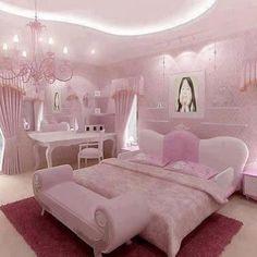 Pink Bedroom Decor, Pink Bedrooms, Glitter Bedroom, Woman Bedroom, Girls Bedroom, Dream Rooms, Dream Bedroom, Rose Bedroom, Girl Bedroom Designs