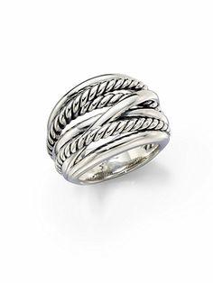 David Yurman - Wide Cable Ring - Saks.com