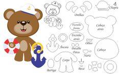 FETRogolik (Korean felt and accessories) Sea Crafts, Diy And Crafts, Paper Crafts, Felt Animal Patterns, Stuffed Animal Patterns, Cute Bear Drawings, Felt Hair Accessories, Bear Felt, Felt Finger Puppets