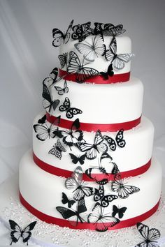 Wedding cake butterfly decoration