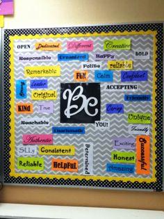 Soft board decoration ideas for high school