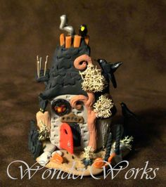 Haunted Horror Whimsy House Detailed Hand Sculpted by wonderworks, $85.00