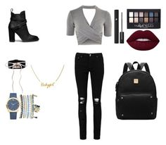 """""""bac to school 2"""" by jojo14130 on Polyvore featuring mode, Topshop, Boohoo, Maybelline, Lancôme, Mixit et Coach"""