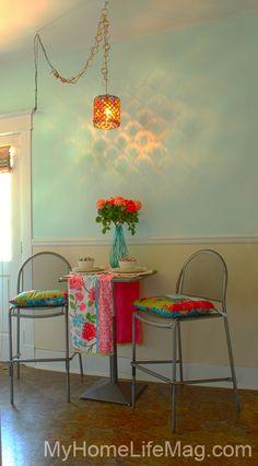 || shabby chic home design jeweled chandelier || @LBDujour