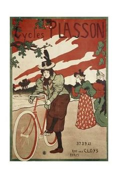 Giclee Print: Cycles Plasson, 1897, Poster by Manuel Robbe (1872 - 1936) : 24x16in