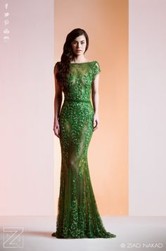 This green gown is divine!